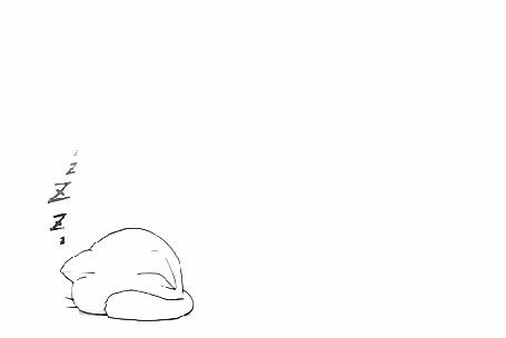 Анимация Спящий кот на белом фоне
