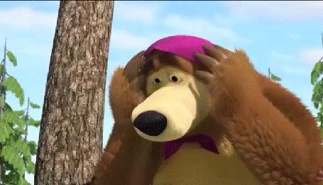 Анимация У Миши поехала крыша. Фрагмент мультфильма Маша и Медведь - Нынче все наоборот