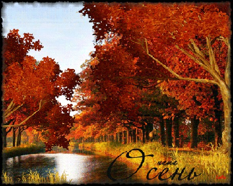 Анимация Осенний парк на фоне речки / Наша осень / Лейла/ (© qalina), добавлено: 01.08.2015 10:01