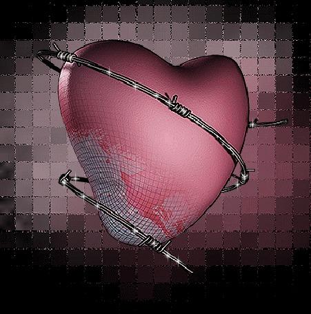 Анимация Сердце в колючей проволоке продолжает биться (© qalina), добавлено: 02.08.2015 21:03
