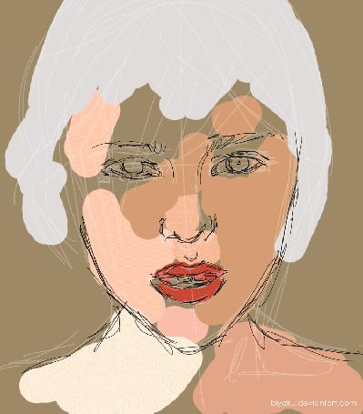 Анимация Процесс рисования девушки, by Biyaku