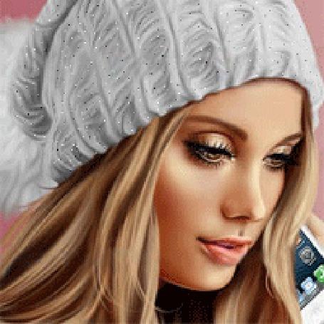 Анимация Красивая девушка в шапочке (© qalina), добавлено: 07.08.2015 18:48