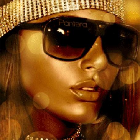 Анимация Красивая девушка в очках с золотистым макияжем на лице, автор Пантера (© qalina), добавлено: 07.08.2015 18:59