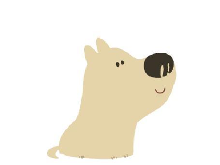 Анимация Собака воет и виляет хвостом