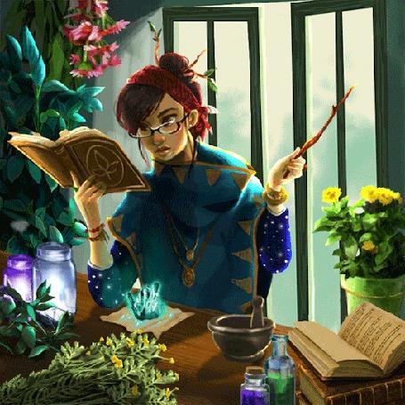 Анимация Девушка занимается магией (© zmeiy), добавлено: 16.08.2015 09:25