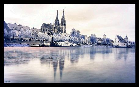 Анимация Летний пейзаж у реки, автор Надюшка (© Natalika), добавлено: 17.08.2015 08:32