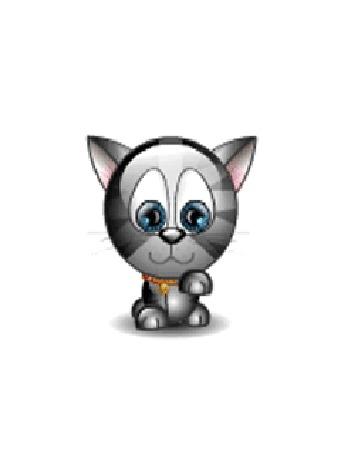 Анимация Котенок умывается лапкой (© zmeiy), добавлено: 19.08.2015 20:23