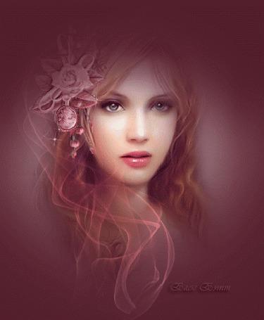 Анимация Девушка с цветком в волосах (© phlint), добавлено: 21.08.2015 09:12