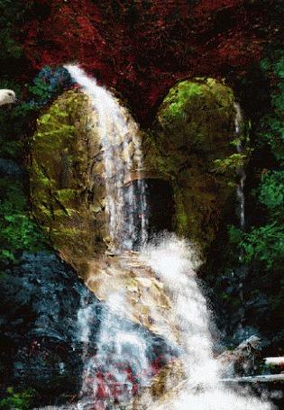 Анимация Горный водопад и голуби (© phlint), добавлено: 21.08.2015 09:16