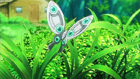 Анимация Бабочка на траве