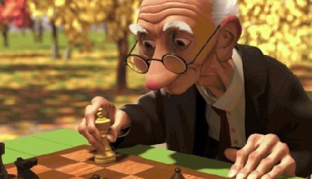 Анимация Старики играют в шахматы (© zmeiy), добавлено: 23.08.2015 18:10