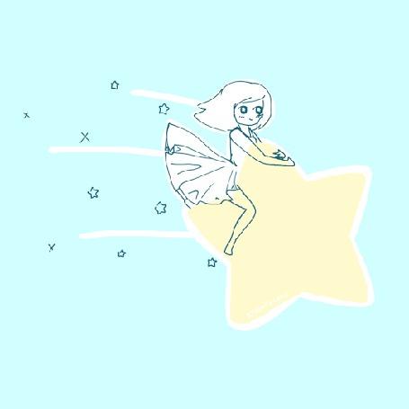 Анимация Девушка летит на звезде (© Krista Zarubin), добавлено: 26.08.2015 12:06