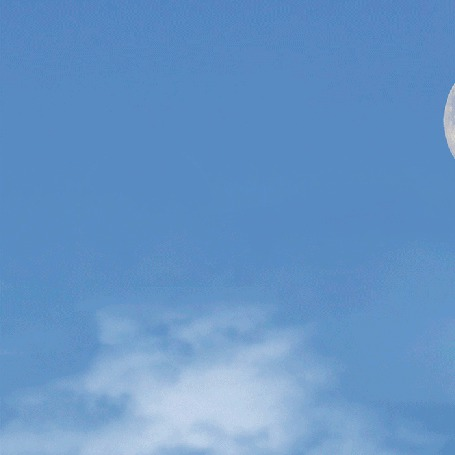 Анимация На носу самолета летит луна (© Миропия_Мира), добавлено: 27.08.2015 14:14