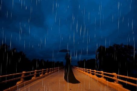 Анимация Девушка с зонтом стоит на мосту (© zmeiy), добавлено: 06.09.2015 00:16