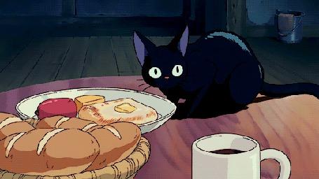 Анимация Джи-Джи / Jiji из аниме Kikis delivery service / Ведьмина служба доставки (© zmeiy), добавлено: 06.09.2015 09:23