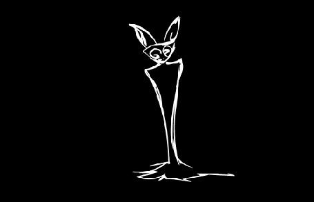 Анимация Взлетающая летучая мышь на черном фоне