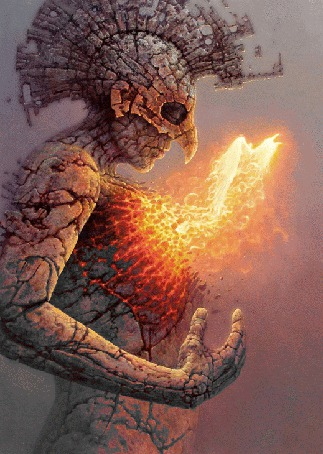 Анимация Мужчина в образе феникса