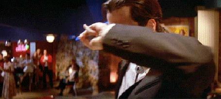 Анимация Джон Траволта, знаменитый танец из фильма Криминальное чтиво