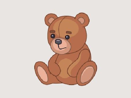 Картинки медвежонок анимация, днем
