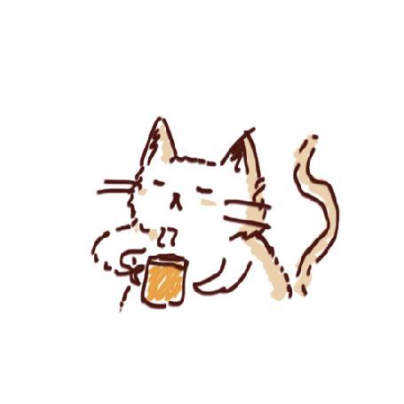 Анимация Нарисованный котенок пьет чай (© zmeiy), добавлено: 15.09.2015 09:42