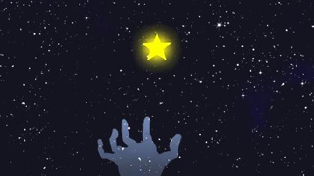 Анимация Рука ловит звезду в ночном небе (© Solist), добавлено: 19.09.2015 12:44