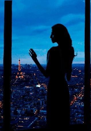 Анимация Девушка в сумерках стоит у окна, и любуется блеском огней вечернего Парижа, задумчиво водя пальцами по стеклу (© 16061984), добавлено: 20.09.2015 09:21