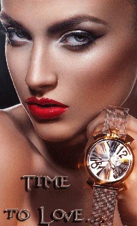 Анимация Гламурная девушка держит в руках часы, Time to Love.(Время чтобы любить) (© phlint), добавлено: 21.09.2015 12:26