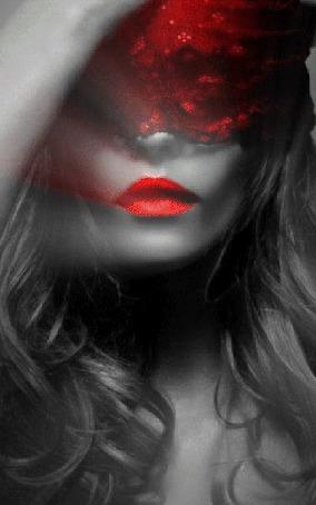 Анимация Девушка с красной помадой на губах (© zmeiy), добавлено: 21.09.2015 15:19