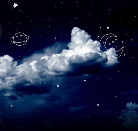 Анимация Падающая на небе звезда (© zmeiy), добавлено: 30.09.2015 10:37