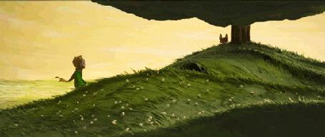 Анимация Встреча Маленького Принца и Лиса, кадры из трейлера к мультфильму Маленький Принц / Le Petit Prince (© BlackAssol), добавлено: 02.10.2015 12:01