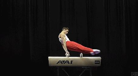 Анимация Выполнение гимнастом упражнений на снаряде (© Anatol), добавлено: 06.10.2015 22:26