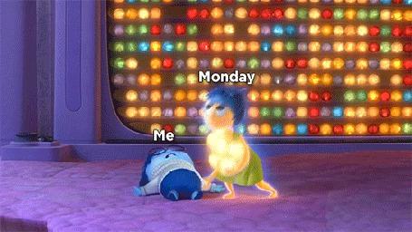 Анимация Понедельник - день тяжелый
