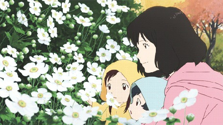 Анимация Hana / Хана, Ame / Амэ и Yuki / Юки из аниме Волчьи дети Амэ и Юки / Okami Kodomo no Ame to Yuki / The Wolf Children Ame and Yuki