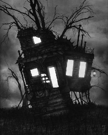 Анимация В сказочном домике загорается и гаснет свет в окнах и дверях (© Akela), добавлено: 07.11.2015 12:19