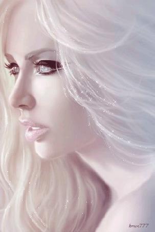 Анимация Красивая блондинка с голубыми глазами пристально смотрит, о чем-то думая, brus777 (© Ксюшечка), добавлено: 09.11.2015 19:36