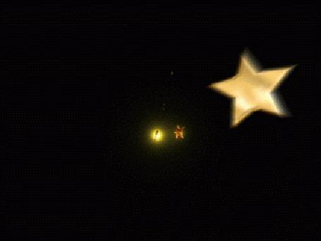 Анимация Яркие летающие звезды на черном фоне (© zmeiy), добавлено: 26.12.2015 07:11