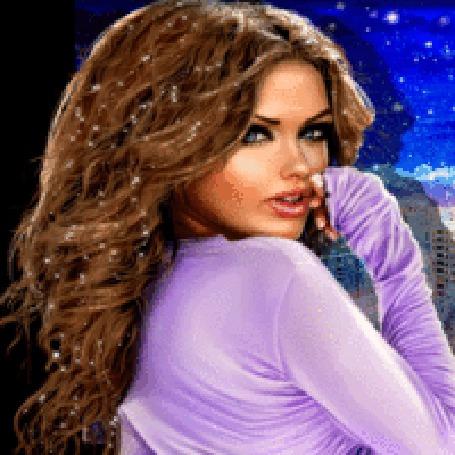 Анимация Девушка с блестящими волосами (© zlaya), добавлено: 28.12.2015 20:33