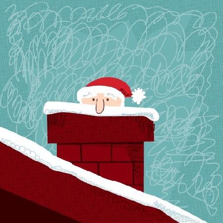 Анимация Санта Клаус падает в трубу от брошенного снежка (© NoFan), добавлено: 31.12.2015 20:37
