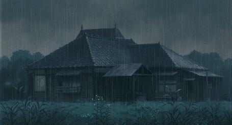 Анимация Дом под дождем (© zmeiy), добавлено: 12.01.2016 19:31