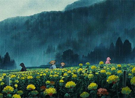 Анимация Люди в поле под дождем (© zmeiy), добавлено: 12.01.2016 19:35