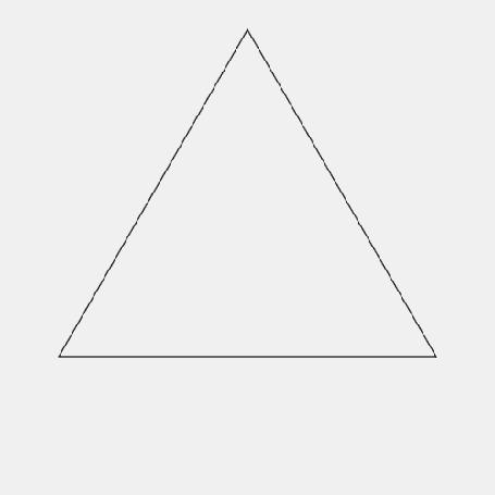 Анимация Построение геометрических фигур из треугольников