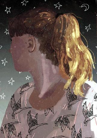 Анимация Девушка в футболке с птицами (© zmeiy), добавлено: 21.01.2016 13:25