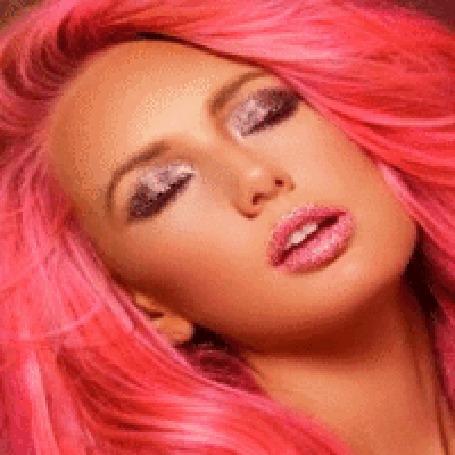 Анимация Девушка с розовыми волосами, snp