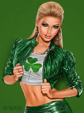 Красавица в зеленом