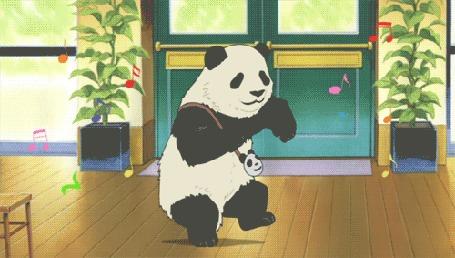 Анимация Танцующая в комнате панда (© zmeiy), добавлено: 21.02.2016 18:12