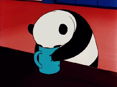 Анимация Панда что-то лакает из чашки (© zmeiy), добавлено: 22.02.2016 00:13