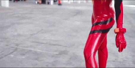 Анимация Asuka Langley Souryuu / Сорью Аска Лэнгли из аниме Евангелион нового поколения / Neon Genesis Evangelion, cosplay / косплей