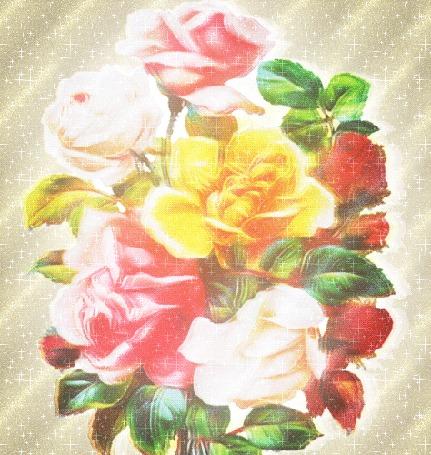 Анимация Букет цветов на сверкающем фоне (© Freshness), добавлено: 22.03.2016 00:49