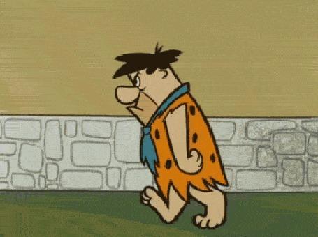 Анимация Фред Флинстоун / Fred Flintstone из мультфильма Флинтстоуны / The Flintstones (© Radieschen), добавлено: 22.03.2016 08:35