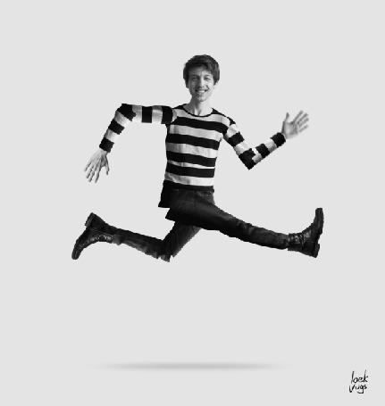 Анимация Бегущий смешной мужчина (loek vugs) (© zmeiy), добавлено: 22.03.2016 22:27